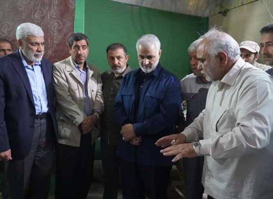 سليماني يظهر مجددا بالعراق مع قادة بالحرس الثوري صورة