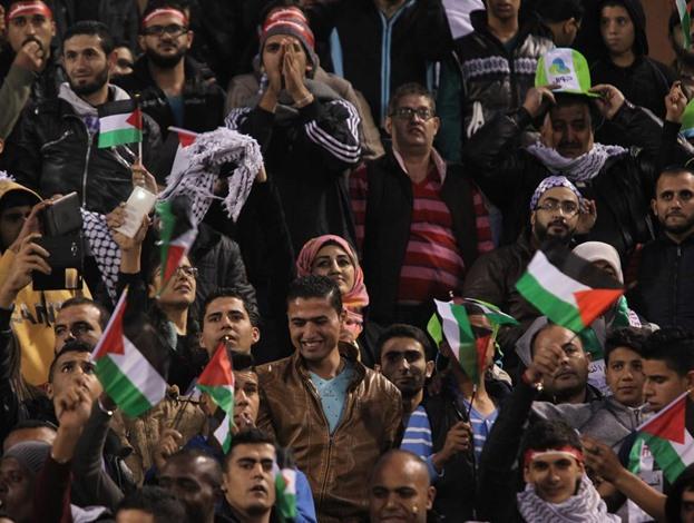 مباراة المنتخب السعودي والفلسطيني - 02- مباراة المنتخب السعودي والفلسطيني - الاناضول