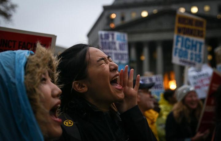 مظاهرات في أمريكا تطالب برفع أجور العمال - 06- مظاهرات في أمريكا تطالب برفع أجور العمال - الاناضول