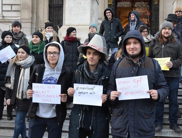 مظاهرة ضد منع الحجاب في الدوائر الرسمية في فيينا - 03- مظاهرة ضد منع الحجاب في الدوائر الرسمية في في