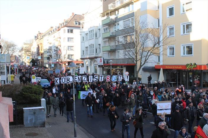 احتجاجات في المانيا ضد عقد مؤتمر تحالف يميني متطرف - 05- احتجاجات في المانيا ضد عقد مؤتمر تحالف يمين