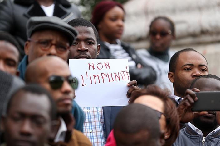 طلبة أفارقة يطالبون بتجريم العنصرية في تونس - 02- طلبة أفارقة يطالبون بتجريم العنصرية في تونس - الان
