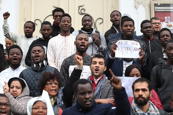 طلبة أفارقة يطالبون بتجريم العنصرية في تونس - 06- طلبة أفارقة يطالبون بتجريم العنصرية في تونس - الان