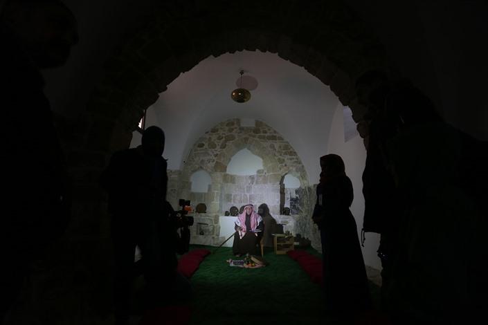افتتاح مقام الخضر الأثري بغزة - 04- افتتاح مقام الخضر الأثري بغزة - الاناضول