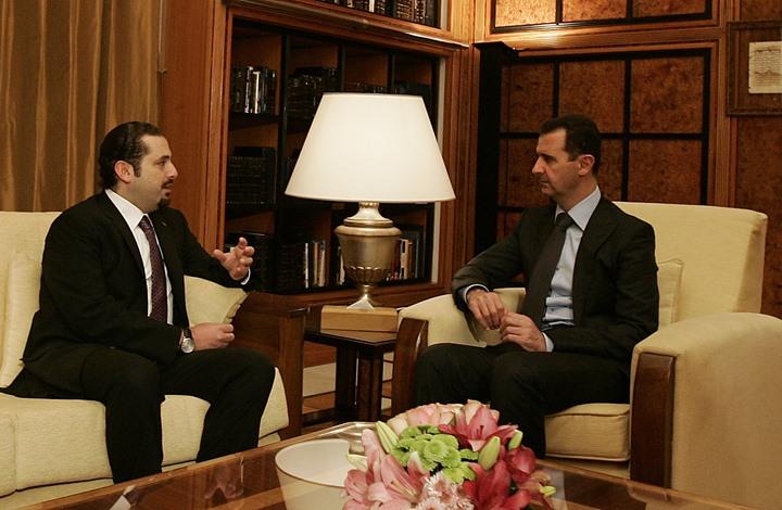 الحريري والأسد- جيتي