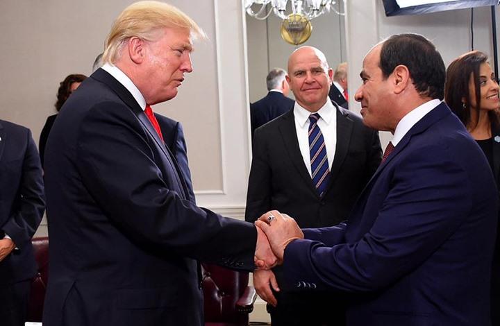 السيسي ترامب- السفارة الأمريكية في القاهرة