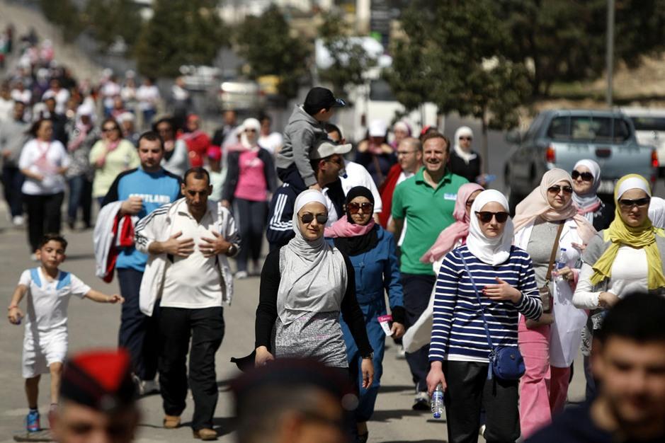 تظاهرة طبية توعوية في الأردن حول سرطان الثدي - aa_picture_20140307_1751476_web