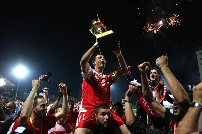 """""""أهلي الخليل"""" يفوز بكأس فلسطين لكرة القدم - 08- أهلي الخليل يفوز بكأس فلسطين لكرة القدم - الاناضول"""