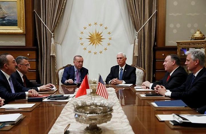 أردوغان يلتقي نائب الرئيس الأمريكي في أنقرة