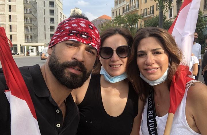 نجوم فن وإعلام يشاركون باحتجاجات لبنان (شاهد)
