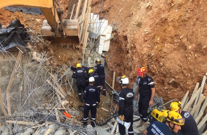 وفاة ثلاثة عمال مصريين بانهيار جدار استنادي في الأردن