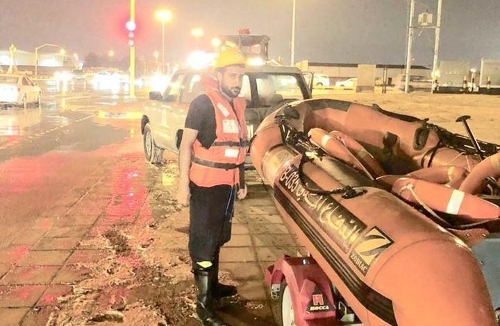 وفاة 7 سعوديين بسبب الأمطار في حفر الباطن