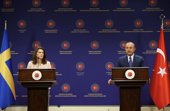 مشادة بين وزيري خارجية تركيا والسويد بسبب سوريا