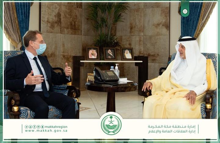 """لقاء """"ودّي"""" بين أمير مكة وسفير فرنسا.. وسخط واسع"""