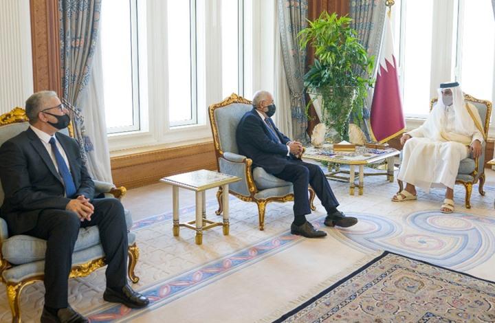 مباحثات بين وزيري داخلية وخارجية ليبيا مع أمير قطر