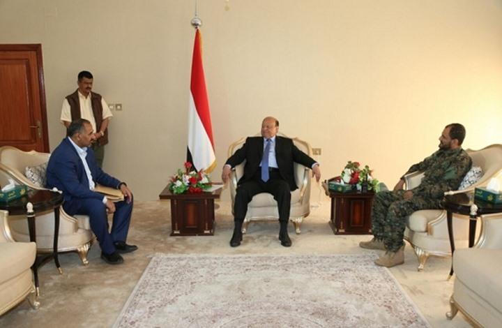 """""""الانتقالي"""" يعلن عدم التعاطي مع قرارات للرئيس اليمني"""