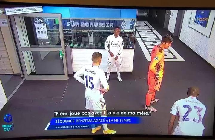 """بنزيما يحرض لاعب الريال على فينيسيوس:""""يلعب ضدنا"""" (شاهد)"""