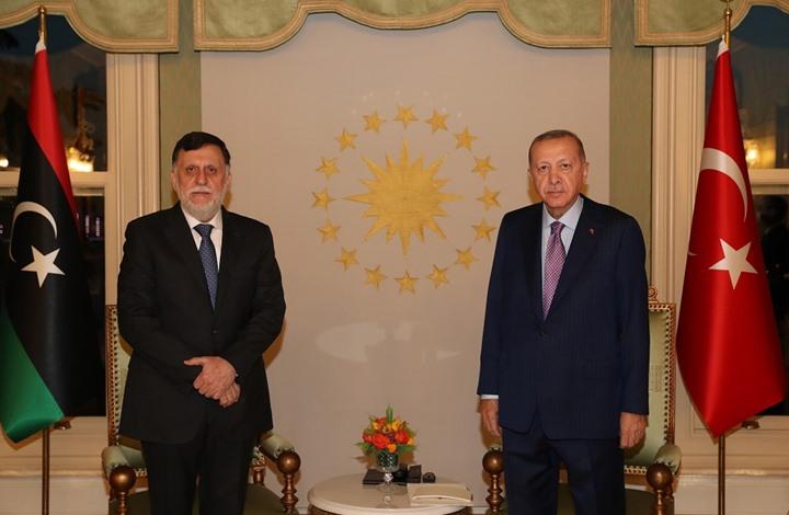 اجتماع مغلق بين أردوغان والسرّاج في إسطنبول (شاهد)