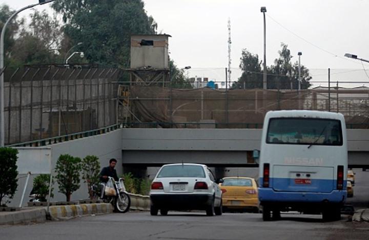 """ثاني هجوم صاروخي في يومين على """"المنطقة الخضراء"""" ببغداد (صور)"""