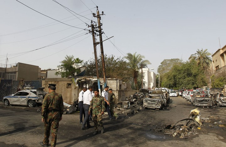 عبوة ناسفة تضرب معهدا أمريكيا وسط النجف العراقية (شاهد)