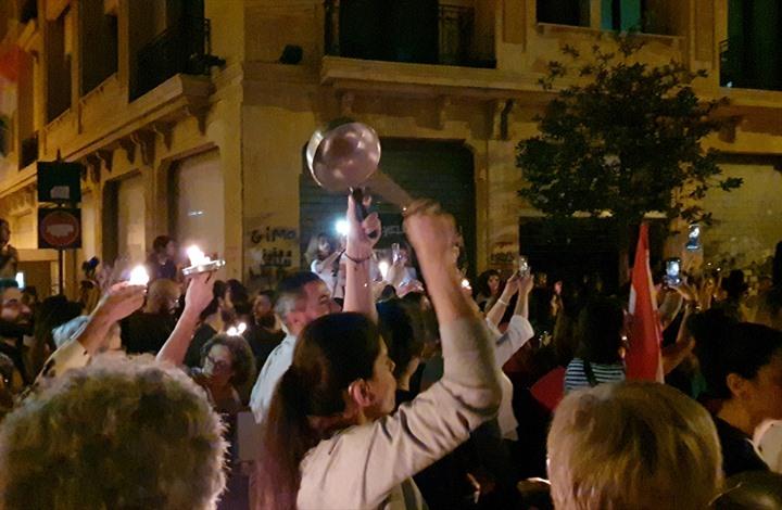 """فعاليات قرع """"الطناجر"""" تجوب لبنان دعما للاحتجاجات (شاهد)"""