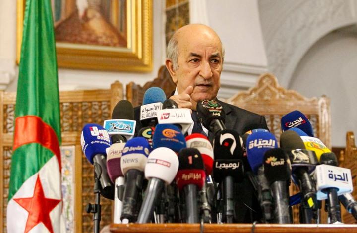 """تبون بأول كلمة له رئيسا للجزائر يهدد """"العصابة"""" ويحدد أولوياته"""