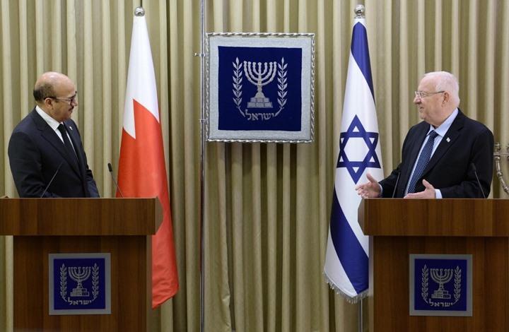 وزير خارجية البحرين يقرع كؤوس الماء مع الرئيس الإسرائيلي