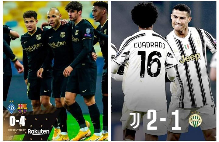 برشلونة ويوفنتوس يحققان التأهل إلى ثمن نهائي دوري الأبطال