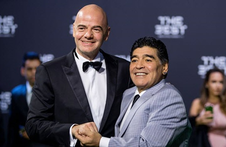 ماذا قال زيدان وإنفانتينو عن رحيل أسطورة كرة القدم مارادونا؟