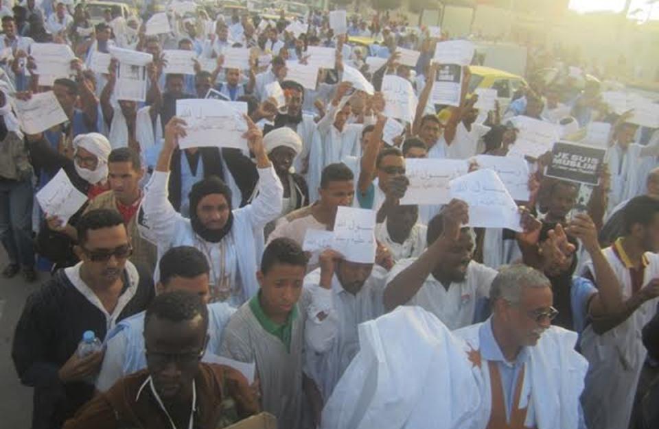 """مسيرات في موريتانيا مناهضة لصحيفة """"شارلي إيبدو"""""""