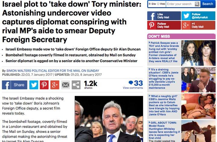 وزير بريطاني سابق: معتوهون بالبرلمان يعملون لصالح إسرائيل
