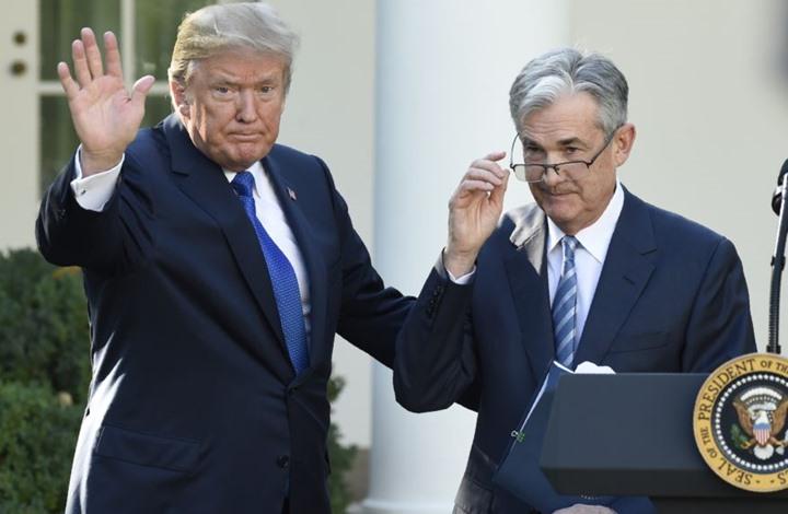 """ترامب يبحث مع باول أسعار الفائدة.. و""""الفدرالي"""" يعلق"""