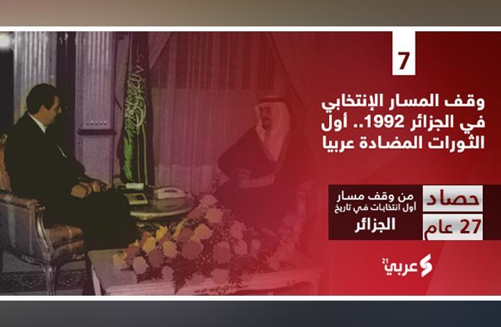 وقف المسار الانتخابي الجزائر 92.. أول الثورات المضادة عربيا