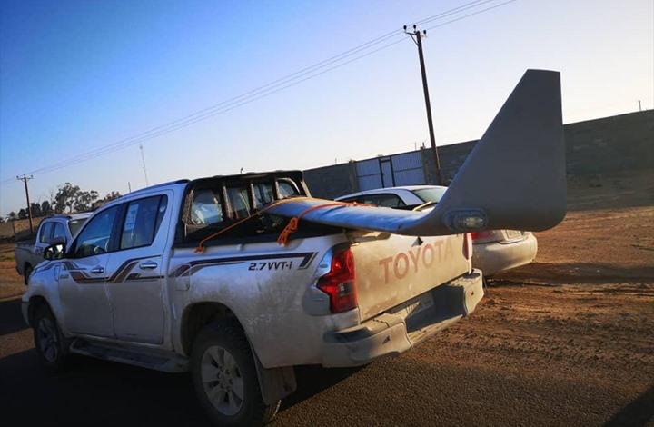 """قوات """"الوفاق"""" الليبية تسقط طائرة مسيرة إماراتية (صور)"""