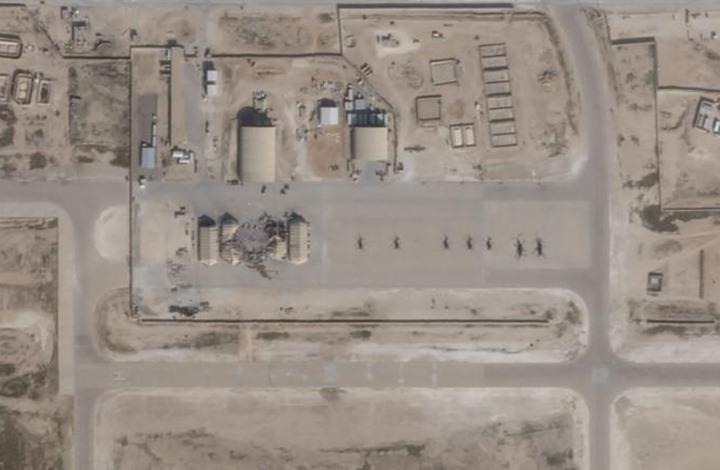 """صور فضائية تكشف أضرار القصف الإيراني على """"عين الأسد"""""""