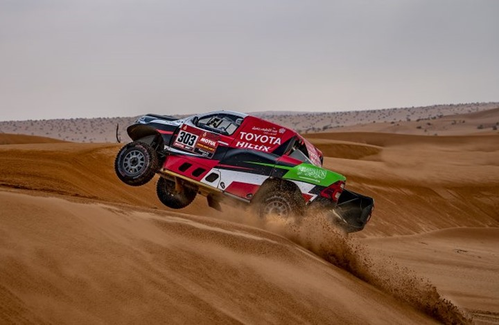 """السائق السعودي في """"رالي دكار"""" يفوز بالمرحلة العاشرة"""