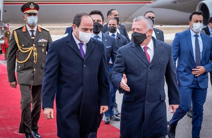 """عاهل الأردن والسيسي يتفقان على تنشيط """"عملية السلام"""""""