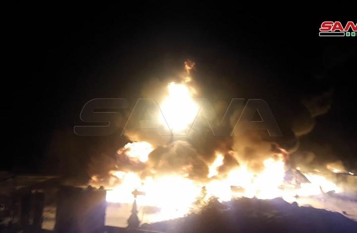 انفجارات ضخمة بمنشآت نفطية في حمص (شاهد)