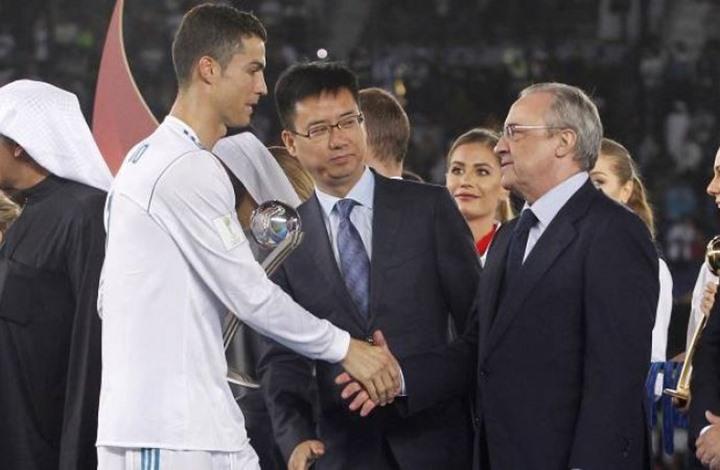 مفاجأة.. رئيس ريال مدريد يلتقي رونالدو في إيطاليا