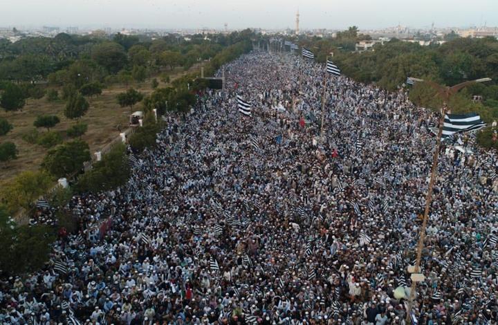 """""""مسيرة مليونية"""" بباكستان رفضا للتطبيع مع الاحتلال (شاهد)"""