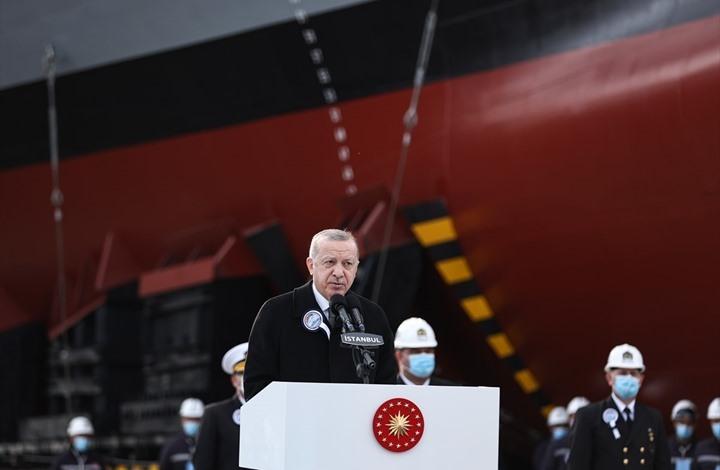 أردوغان يدشن فرقاطة محلية الصنع.. وسلاح جديد على متنها