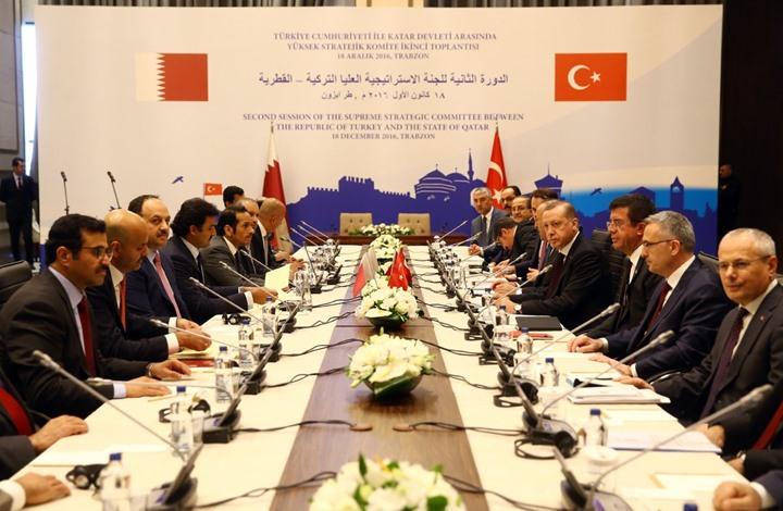 انطلاق اجتماع اللجنة الاستراتيجية التركية القطرية العليا