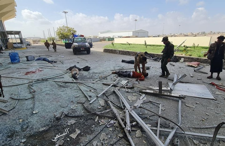 الخارجية اليمنية: 4 صواريخ باليستية حوثية استهدفت مطار عدن