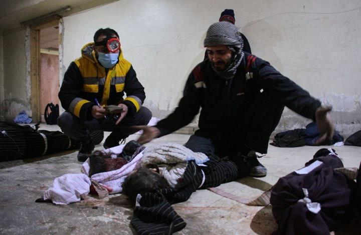 جثث الأطفال.. المشهد الأكثر تكرارا في مشارح الغوطة