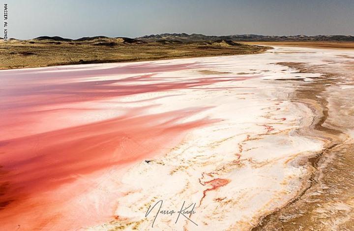 مصور يوثق اكتساح اللون الوردي بحيرات سلطنة عمان (صور)