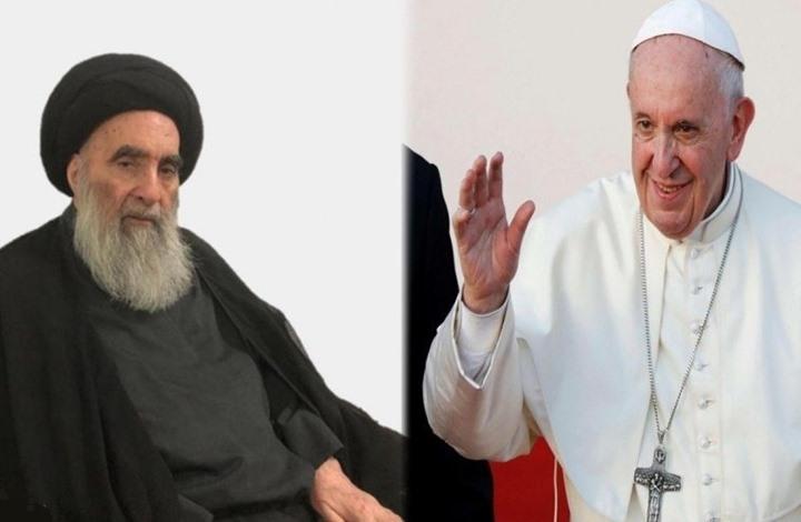 ما دلالات زيارة بابا الفاتيكان إلى العراق ولقائه بالسيستاني؟
