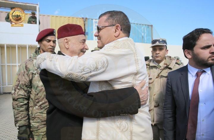 """""""دبيبة"""" في طبرق لبحث تشكيل الحكومة مع عقيلة صالح (صور)"""