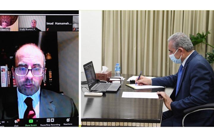 اشتية يطالب بايدن بإلغاء التصنيف الإرهابي لمنظمة التحرير
