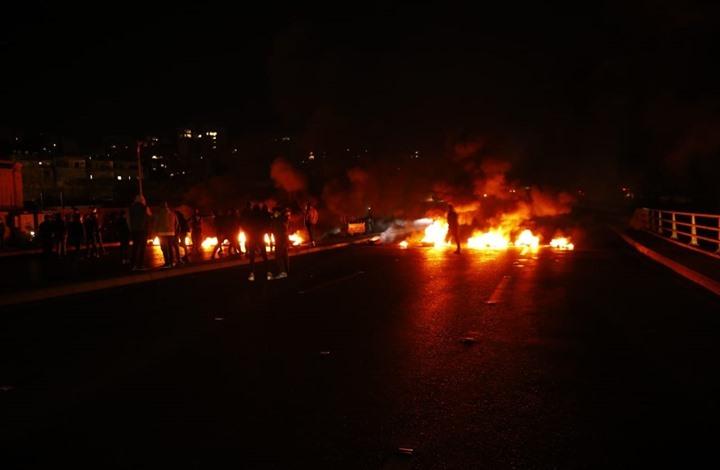 قطع طرق رئيسية في بيروت احتجاجا على انقطاع الكهرباء