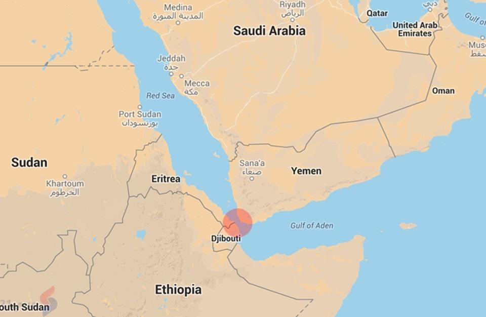 حصري.. السعودية بدأت تشييد قاعدة عسكرية بجزيرة زقر اليمنية